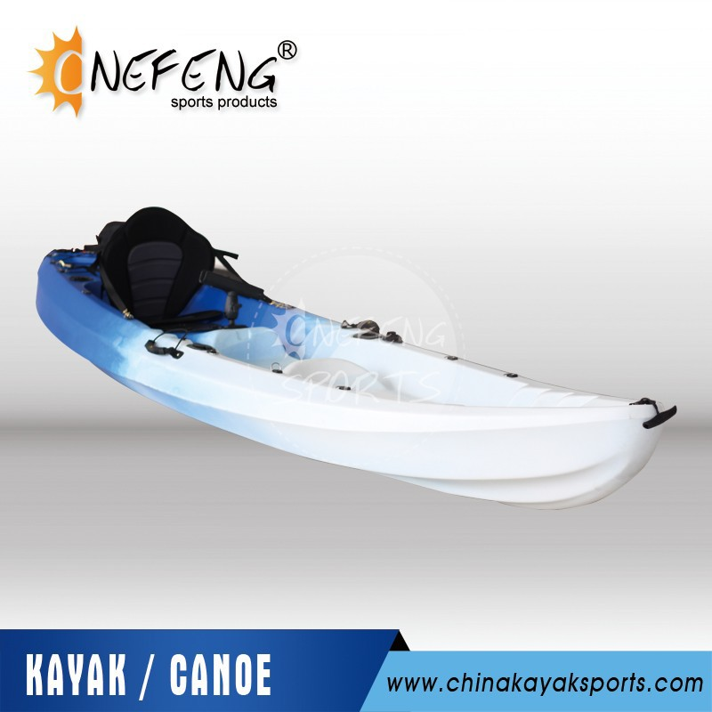 single fishing canoe kajak with rudder and pedal from cool kayak