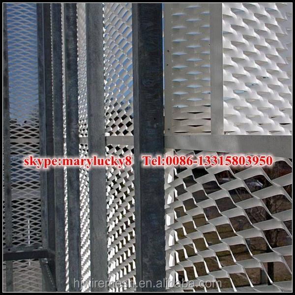 External Architectural Expanded Metal Mesh Aluminium Facade Mesh ...