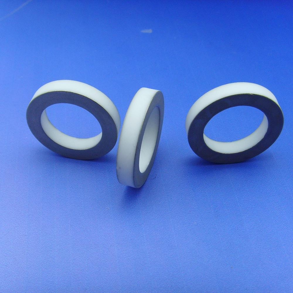 96% Alumina Mo Mn Metallized Ceramic Rings With High Quality