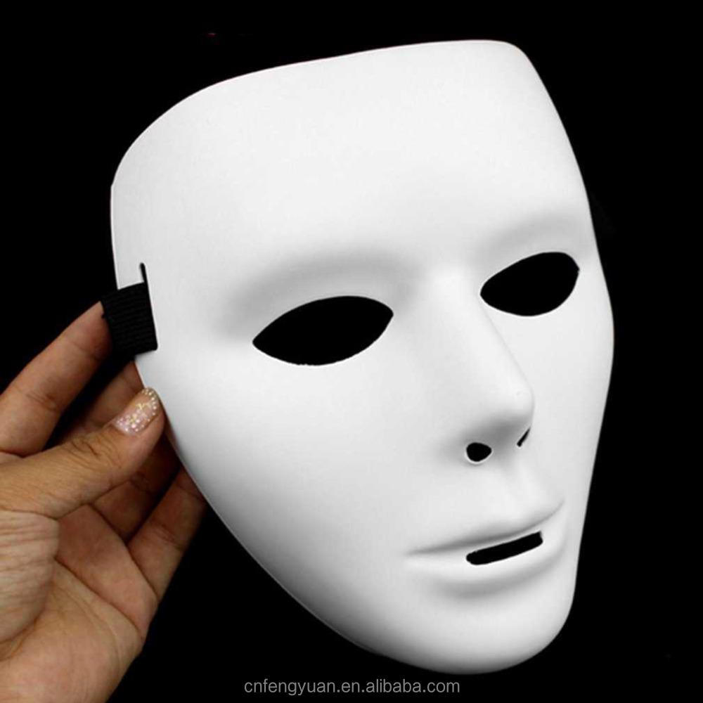 Cosplay Halloween Festival White Face Dance Costume Mask for Men Women YG