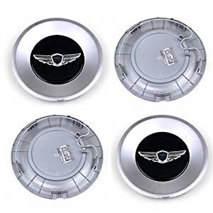 Genesis Wing 18inch Wheel Center Caps / V6 3.8 Sedan Wheel Caps (Set of 4) Mobis Genuine Parts