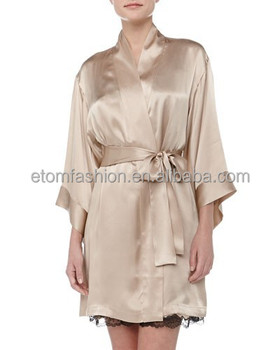 Luxury Short Silk Robe For Women E0e25 - Buy Silk Robes For Women ab18ee399