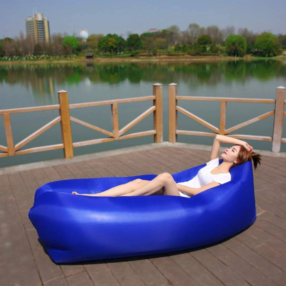 ONETWO Outdoor Air Sofa Bed,Portable Skin-friendly Waterproof Air Lounger, Indoor Leisure Inflatable Couch For Beach Camping