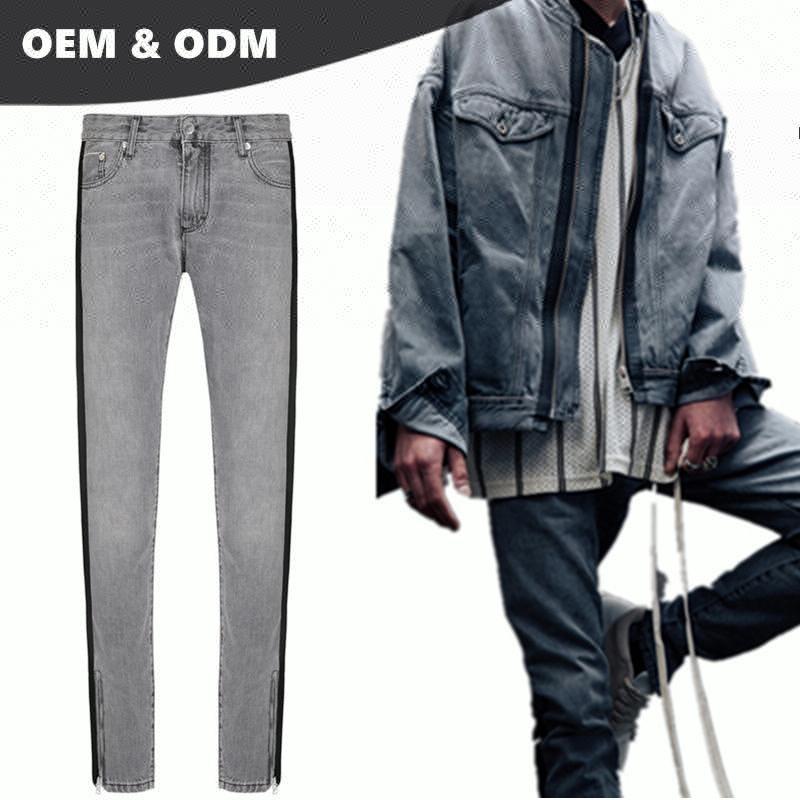 Oem Customized Best Jeans Brands Men Private Blue Brand Stretch
