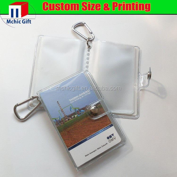 Cheap custom design soft pvc business card case / bussiness card holder
