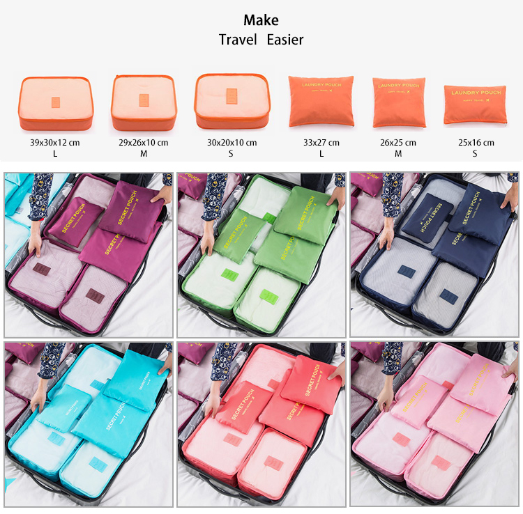 6 Sets Luggage Personal Storage Bags Travel Organizer