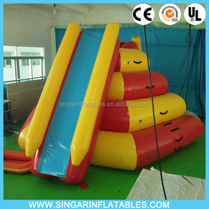 COOL!! Heat sale Inflatable Water Park slide, Aqua Floating Island Climbing Tower Slide
