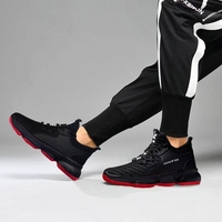 The Summer latest design trend fashion breathable sport lace-up cool man casual shoes