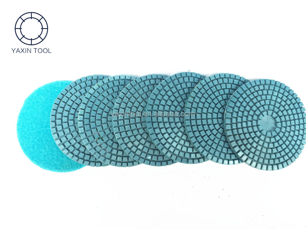 3 Step Diamond Flexible Wet Polishing Pads for stone marble concrete