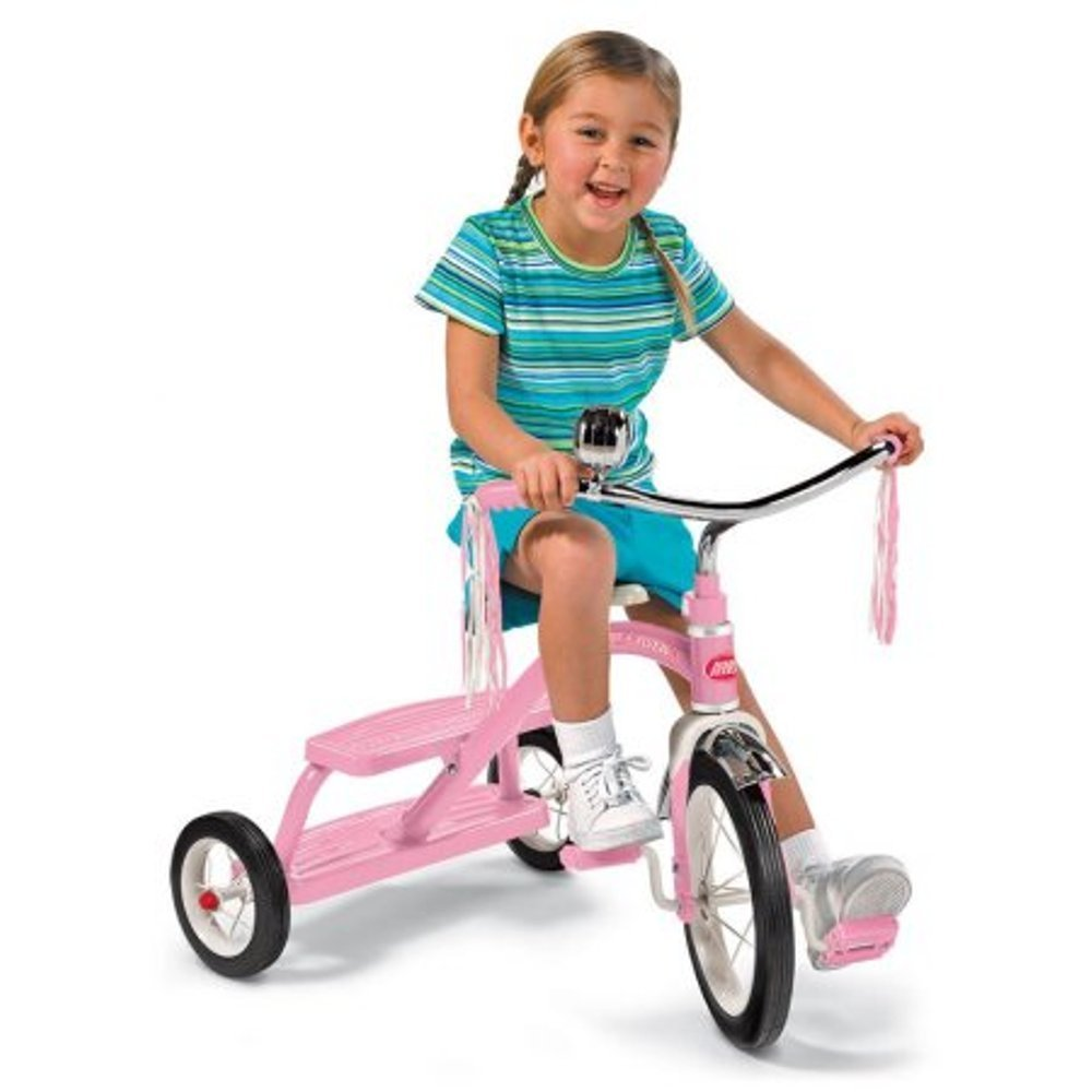 Radio Flyer Pink Dual-Deck Classic Tricycle,Girls,33P