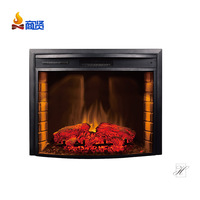 Wood frame fireplace tv stand home heater