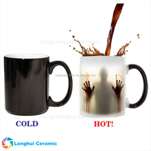 11oz walking dead design heat sensitive ceramic custom magic mug changing color