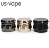 Gun-Black 4 Layers special color ZINC ALLOY Diamond Shape Chamfer Side Concave Tobacco Herb grinder