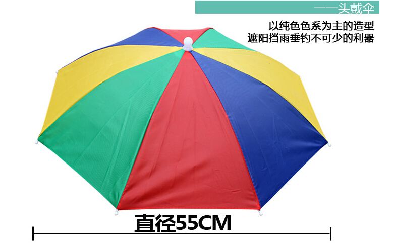 85ee3418 Umbrella Hat Sun Shade Camping Fishing Hiking Festivals Outdoor Brolly