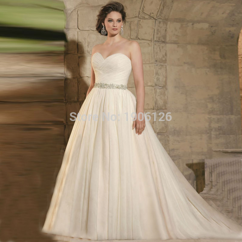 Light Wedding Dresses For Abroad: Online Get Cheap Plus Size Champagne Wedding Dress