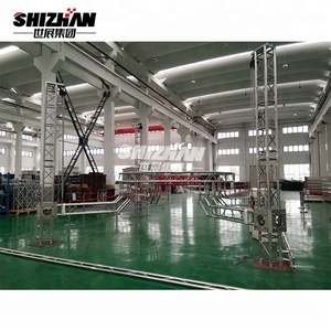Exhibition aluminum truss system design with five angle star