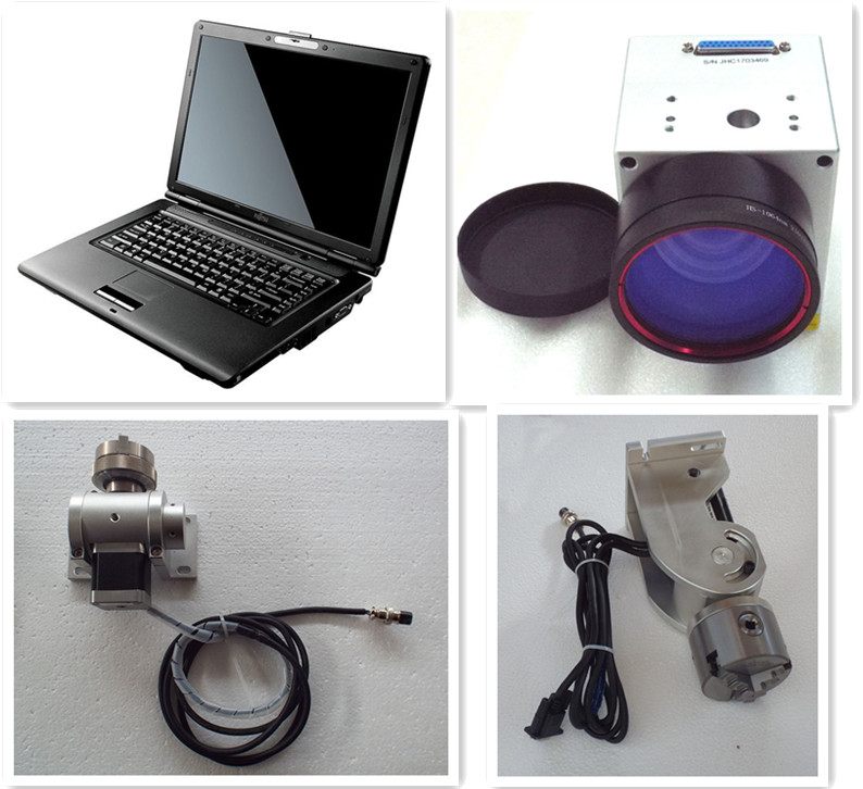 hot selling ring jewelry 20w 30w laser marking machine with rotary device