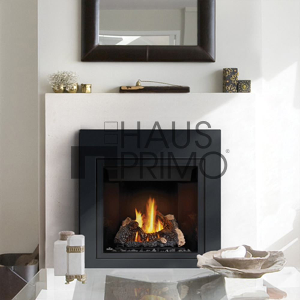 120v Indoor Black Stainless Steel Electric Fireplace