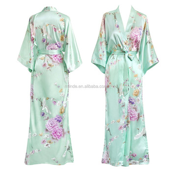 63d03d99f Old Shanghai Elegant Women's Kimono Long Robes Sleepwear Bathrobes  Wholesale Custom Manufacturer Printing Robes OEM