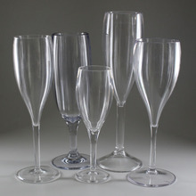 Dongguan Customize Printed Unbreakable Reusable Wholesale Party Coupe Champagne Glasses Clear Goblet Plastic Champagne Flutes