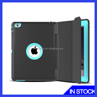 Newest Rugged Triple-Layer Shock-Resistant Drop Proof Defender Case Cover for ipad + PET screen protector