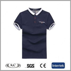Hot sale good price navy fashion spandex polyester men's polo t-shirts