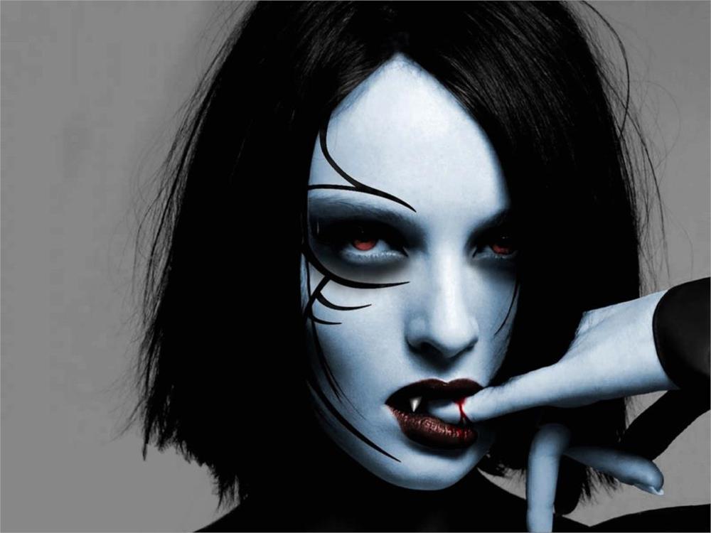 dark horror evil vampire fantasy gothic women Home Decoration Canvas Poster