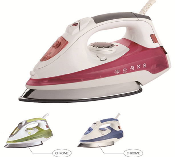 2019 Fashion design soft grip handle professional steam iron electrical steam iron