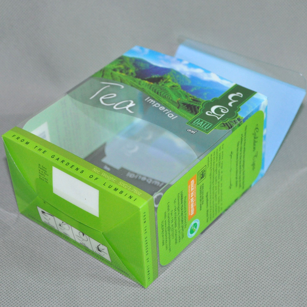 Folding clear pvc packaging box cosmetic plastic containers