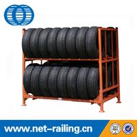 Heavy duty Warehouse storage stack adjustable tire rack MM