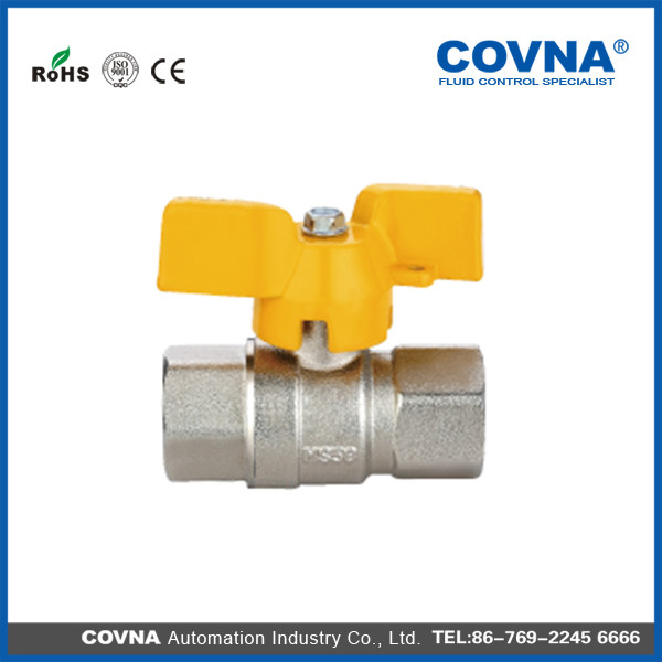 Cheaper price forged brass ball valve full flow Ball Valve floating ball valve with butterfly handle