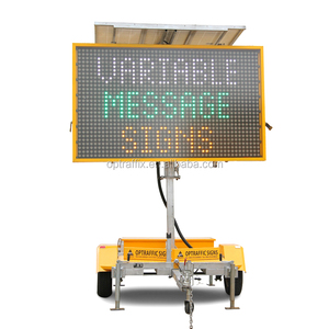 OPT VMS-400-3 Solar Trailer Mounted VMS Portable Changeable Message Board Traffic Control Message Sign