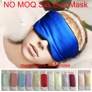 Wholesale Custom Travel Satin Sexy Sleep Mask/Eye Cover Silk Natural