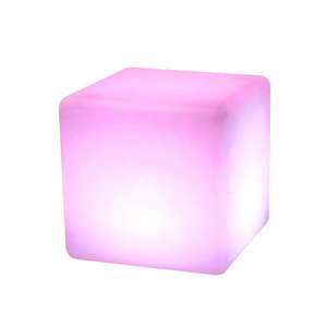 Rechargeable LED cube table and chair / 3d LED illuminated outdoor light cubes