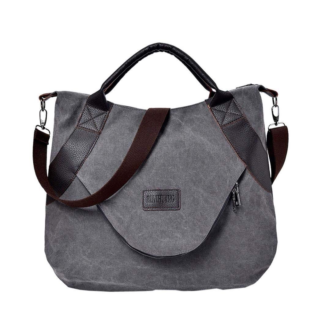 Get Quotations Women S Retro Leisure Canvas Zipper Travel Top Shoulder Bags With Corssbody Bag Handbag