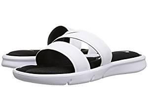 online store 32d74 5577b Get Quotations · Nike Ultra Comfort Slide White White Black Women s Sandals