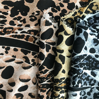 Wholesale leopard patterns woven printed pure rayon fabric