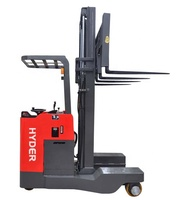 Lift height 6m narrow aisle forklift 2ton 4-direction electric reach truck