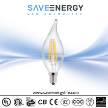Promotion filament led chip 4w candle lamp e12 ip20 3w led candle lamp e14