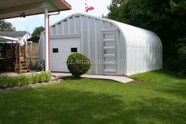 prefabricated A model web steel structure garage kits low price for sale