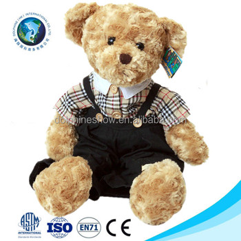 a8f21bc1f0f 2017 Fashion cheap plush teddy bear clothes wholesale custom cute stuffed  soft toy plush boy teddy