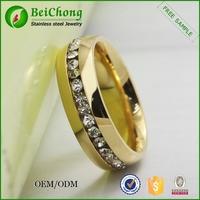 Diamonds band solid anniversary ring 14K yellow gold diamond ring