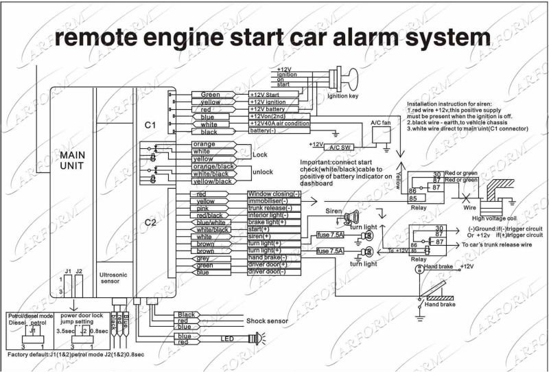 car alarm with remote engine start one way car alarm. Black Bedroom Furniture Sets. Home Design Ideas
