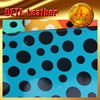 raw materials colorful PU mirror dot face leather textile and leather fabric