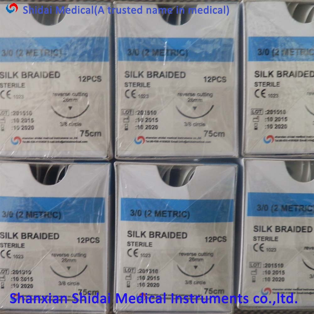 New Products Various Materials Medical Non Absorbable Silk Suture for Operation