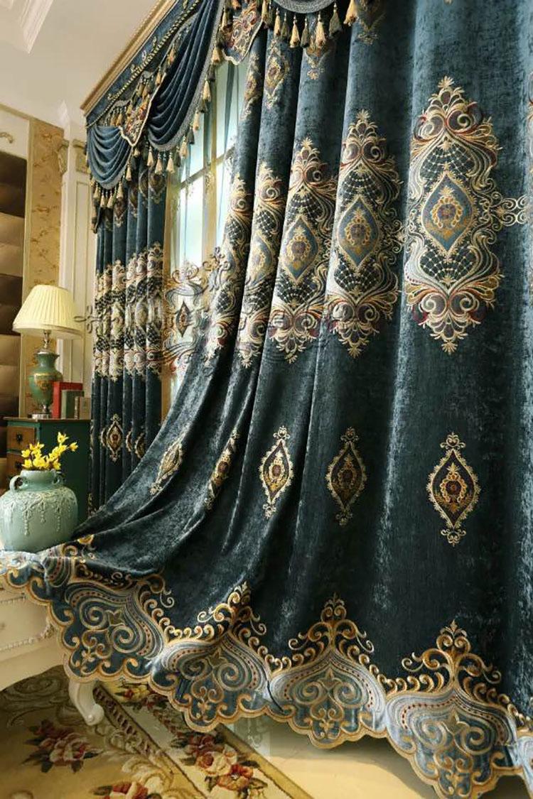 Classique Style Dubaï Fenêtre Rideau Pour Salon - Buy Dubaï Fenêtre ...