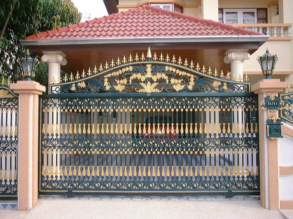 Wrought Iron House Gate Design,Iron Main Gate Colors