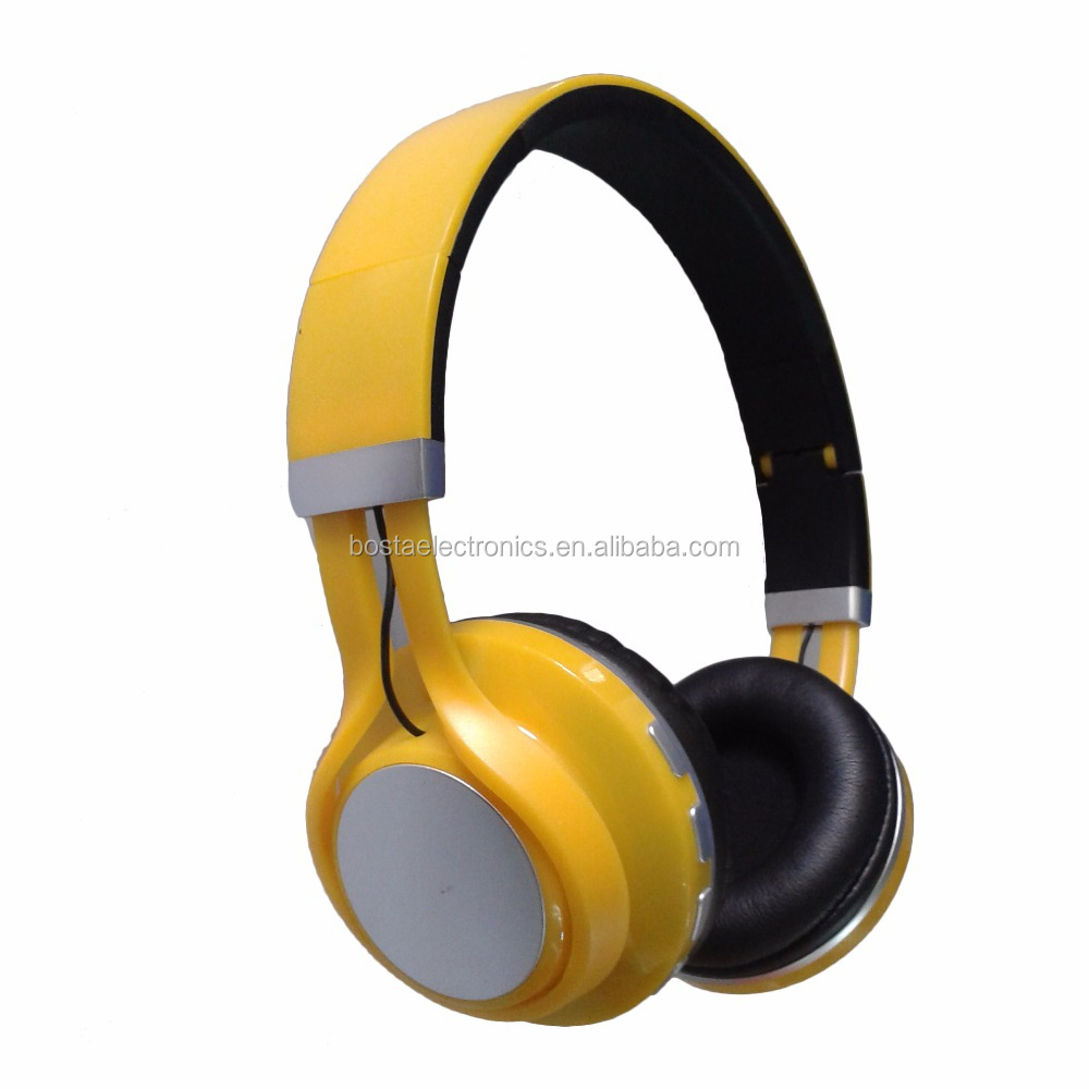 Promotional best colors silent disco party bluetooth headphone with RF transmitter