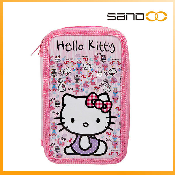 fashion fanny cat catoon zip girl school Pencil Case stationery set, girl school Pencil bag