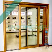 Aluminum clad wood doors entry door large glass heavy duty lift sliding door